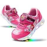 [Joah Shop] アナと雪の女王 Frozen エルサ アナ LEDライトアップ スニーカー 運動靴 ピカピカ 光る靴 (19.0 cm) [並行輸入品]