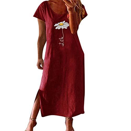 Hemdblusenkleider Damen Hochzeitskleider FüR Bunte Sommerkleider Abendkleider Kleiderschrank 80Cm Breit Maxi Kleider Schubladeneinsatz In Grossen GröSsen Schicke(Wein,3XL)