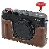 NO1ACCESSORY PU-Leder-Kameratasche Hälfte Cover Tasche Gehäuse Kompatibel mit Fujifilm Fuji X-E4...