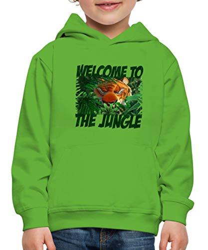 Spreadshirt Das Dschungelbuch Willkommen Im Dschungel Kinder Premium Hoodie, 122-128, Hellgrün