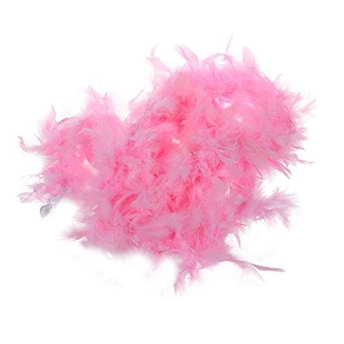 SODIAL(R) 2m Feather Boas Fluffy Craft Costume Dressup festa di nozze Home Decor (rosa)