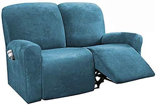 JXJ Funda para sillón reclinable, Funda para sofá, 6 Piezas de Protector de Muebles, cojín para sofá, Forma de Felpa de Terciopelo Intenso, Adecuado para Moda elástica, Fondo Suave y elástico (F