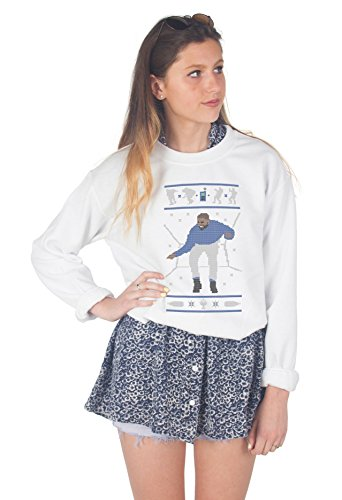 Sanfran – Hotline Bling Ugly Christmas Pullover, lustiges Geschenk 1800 Sweatshirt Gr. XL, weiß