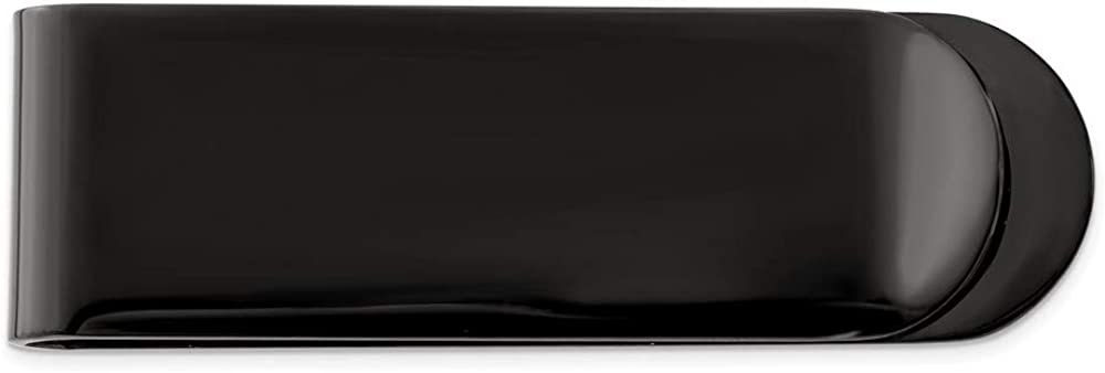 Chisel Black Plated Brushed Stainless Steel Money Clip