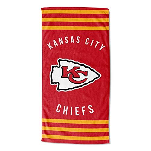 The Northwest Company Kansas City Chiefs - Toalla de Playa (30 x 60 cm), diseño de Rayas
