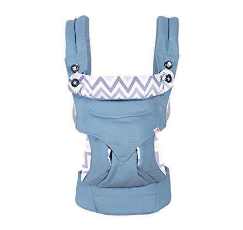 4-in-1 Baby Carrier Backpack Convertible Ergonomic Infant Holder Kangaroo Wear for New Dad and New Mom Designed for Newborn to Toddler Front Side and Back Carry Wearing