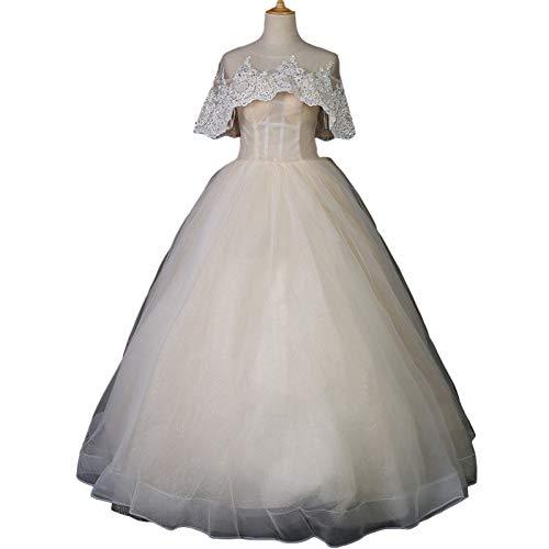 SHANYUR Vestido De Novia Francés Mori Vestido De Novia De Moda Simple, De Gran Tamaño, Vestido De Novia Chal Delgado