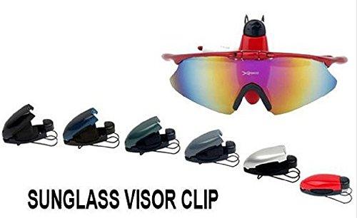 Bril en zonnebril houder Clip voor auto vizier - Houd bril veilig in de auto Groen