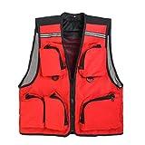 Chaleco Pesca Hiker Fisherman Clothes Fly Fishing Vest Mesh Multi-Pocket...