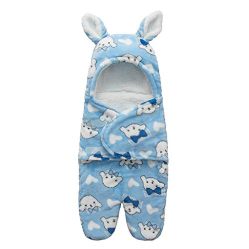 CCIIO - Manta con Capucha para recién Nacidos, Suave y cálida, de Lana de Coral, Envoltura, para Cochecito, Saco de Dormir