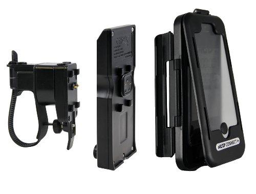 NC-17 Connect spatwaterdichte stuurhouder voor smartphone en mobiele telefoon/voor Apple iPhone 5/5S/5C en iPhone SE (telefoonhoes met fietshouder en extra accu)