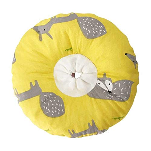 Collares y conos recuperación caninos Collar for perro inflable de protección de recuperación del perro del gato de la herida tornillo de cicatrización de protección collares de algodón de recuperació