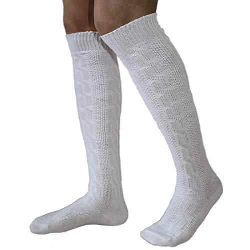 German Wear Tradizionale bavarese calze costume lunga noorsk calze bianco 75 cm