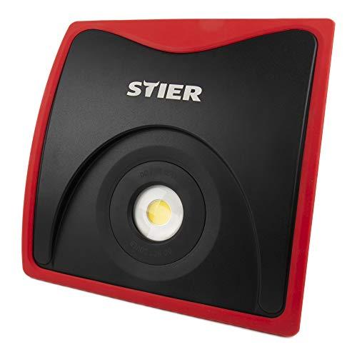 STIER Wechselakku COB LED Baustrahler, 5000 Lumen, 50W, 18 V Akku, mit Überspannungsschutz