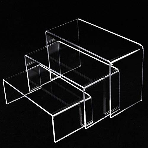 3 Stück Klare Acryl Display Riser, Schmuck Display Riser Schaufenster Leuchten Für Schmucksockel, Kosmetikständer, Schuhständerzubehörständer