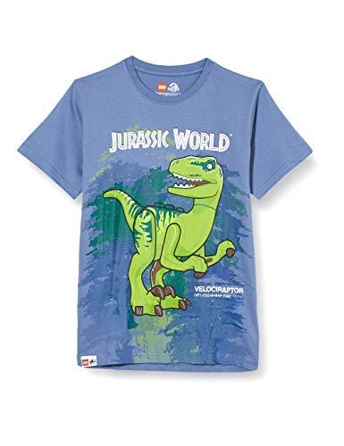 LEGO Jungen MW Jurassic World T-Shirt, 507 Light Blue, 128