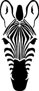Yilooom Zebra Head Decal Window Bumper Sticker Car Zoo Stripes Wildlife Pet Animal Horse