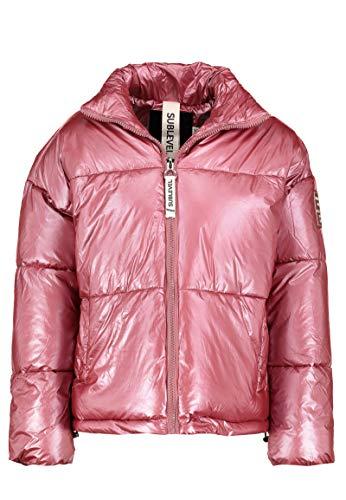 Sublevel Damen Oversized Glossy Steppjacke Metallic pink XL