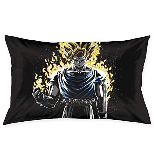 Lucky Home - Funda de almohada con diseño de dragón Ball Z Goku Super Saiyan Flames
