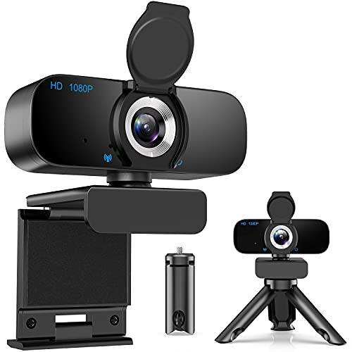 [Latest 2021] Webcam HD 1080p Web Camera, USB PC Computer Webcam with Microphone, Laptop Desktop Full HD Camera Video Webcam, Pro Streaming Webcam for Recording, Calling, Conferencing, Gaming