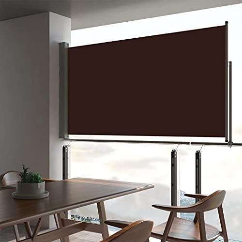 LUYIPINGQIWND Color: Marrón Toldo Lateral retráctil de jardín marrón 160x300 cm