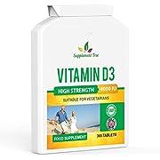 Vitamin D 4000IU 365 Vegetarian Tablets | High Strength Cholecalciferol Vitamin D3 Supplement | UK Manufactured