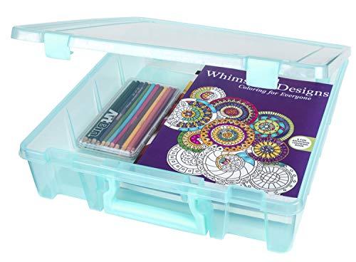 ArtBin Super Satchel Single Compartment-15.25 14 x 3.5-inch Aqua Mist, Other, Multicoloured, 10.81 x 37.56 x 39.46 cm