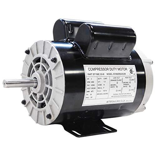 NEW 2 HP SPL Compressor Duty Electric Motor, 3450 RPM, 56 Frame, 5/8