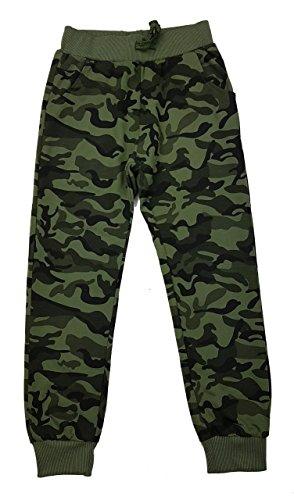 Fashion Boy Bequeme Jungen Freizeithose in grün Camouflage, Gr. 122/128, J6092.8