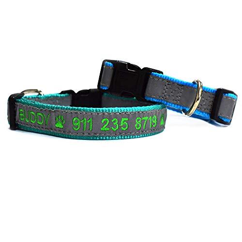 Graceful Life Hundehalsband, personalisierbar, für kleine und mittelgroße Hunde (S, Schwarz)