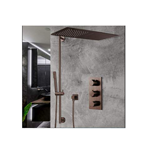 Fantastic Deal! FontanaShowers Light Oil Rubbed Bronze Waterfall & Rainfall Shower Set