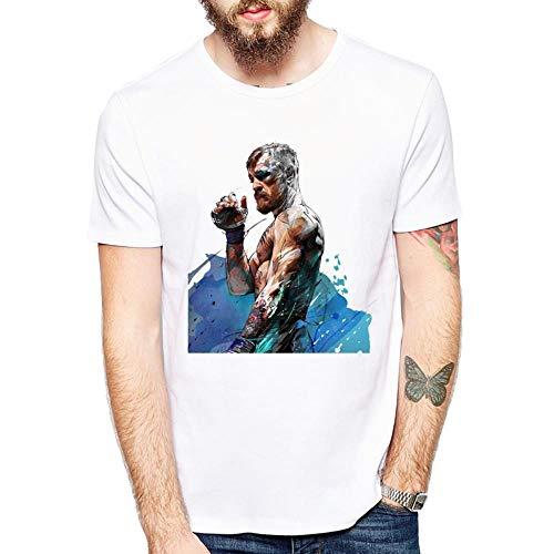 Camiseta de los hombres de Lucha Boxeo Elegante y Cómodo Transpirable Elástico Grandes Yards Suelto de Manga Corta de Verano Sudor Blazer Niño