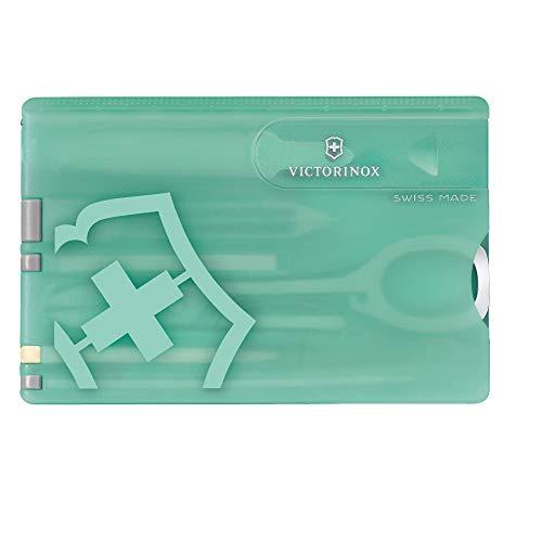 Victorinox SwissCard Classic Fresh Energy (10 Funktionen, Schere, Stecknadel, Nagelfeile) mintgrün, für Damen