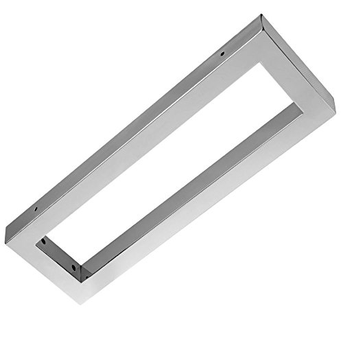 Wandkonsole EWH011-450 edel verchromt | Maße: 450x150x30 mm | Unterbau für Waschtischplatte | Liefermenge: 1 Stück