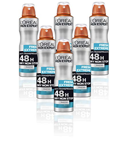 L'Oreal Paris Men Expert Deo Spray Fresh Refresh, 150 ml, 6 Stück