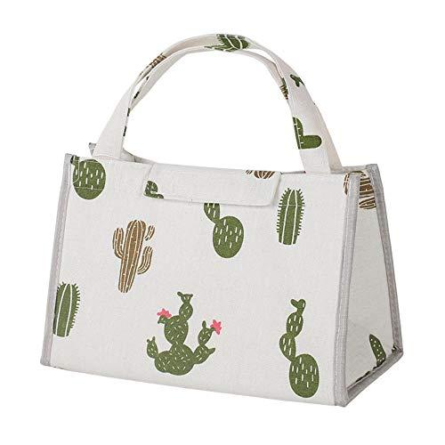 Cajas de almuerzo empaquetadas bolsas de papel de aluminio, bolsas aislantes, bolsas de lona, bolsas de almuerzo, bolsa de almuerzo fuera de moda con una comida, cactus, pequeña