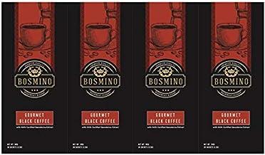 Bosmino 4X Black Coffee Drinks 100% Ganoderma Lucidum & Arabica Beans Extract (30 Sachet/Box)