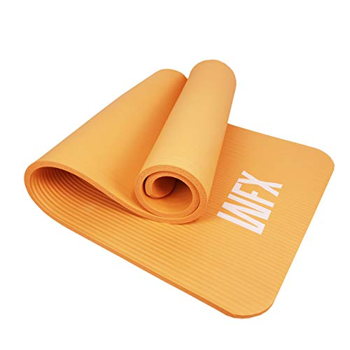 #DoYourFitness Esterilla Yoga y Fitness »Yamuna« - Colchoneta Extra Gruesa y Suave - Estera Deporte - Fitness, Yoga, Pilates, Gimnasia - 183 x 61 x 1,5 cm – Naranja