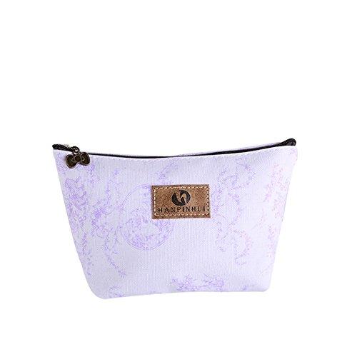 Vi.yo sac de stockage de sac de pièce de monnaie durable sac cosmétique avec de beaux modèles pour femmes dames (style 1)
