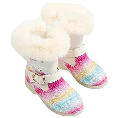 LCXYYY Botas de Nieve Niña Botas Princesa Elsa Botas de Lnvierno para Niños con Forro Cálido, Antideslizantes para Niños Accesorios para Disfraces de Reina de Hielo Botas de Tacon Alto
