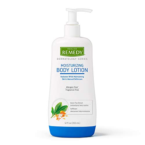 Remedy Dermatology Series Body Lotion for Dry Skin, 12 Oz, Unscented Lotion, Paraben Free, Lotion for Sensitive Skin, White, unscented