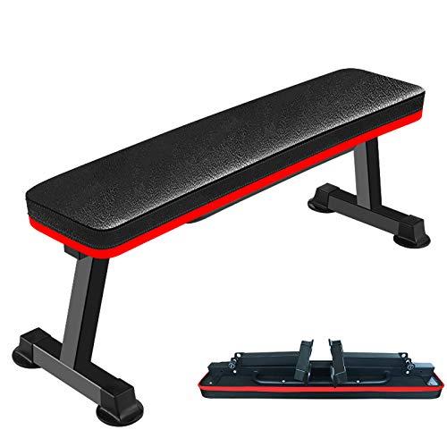 Banco de pesas plano plegable, banco de levantamiento de pesas, banco de entrenamiento, equipo de gimnasio en casa