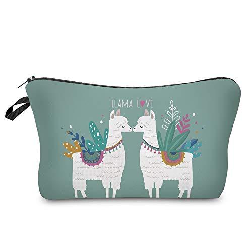 Water Resistant Cute Small Makeup Bag, Nice Printing Cosmetic Bags Travelling case (llama gifts 51434)
