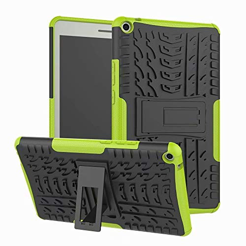 Huawei MediaPad T3 8 Case,Hybrid TPU Silicone & Hard PC with Kickstand Back Cover for Huawei Mediapad T3 8-Inch (KOB-L09 / KOB-W09) Tablet Protective Case,Green