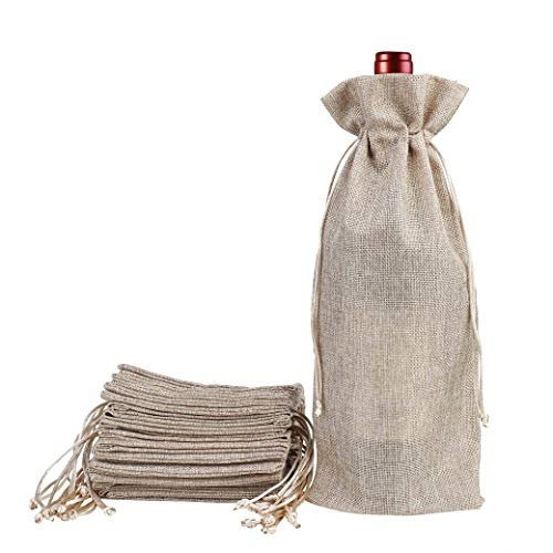 Bolsas de Vino de Yute, 37 x 15.5cm Hessian Wine Carriers co