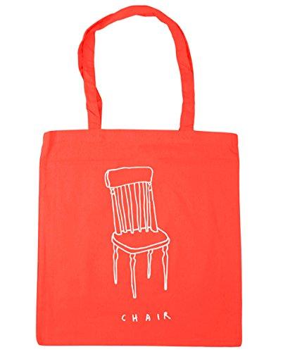HippoWarehouse Simple chair drawing Tote Shopping Gym Beach Bag 42cm x38cm, 10 litres