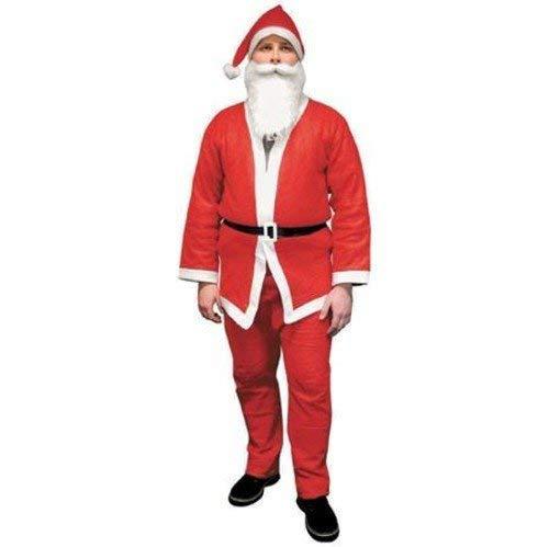 Kerstmankostuum Kerstmankostuum carnaval broek mantel muts baard riem