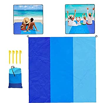 Beach Blanket Mat pique-nique Tapis Portable de poche sandproof eau Couverture en nylon résistant pour Camping Voyage randonnée en plein air Couvertures Camping
