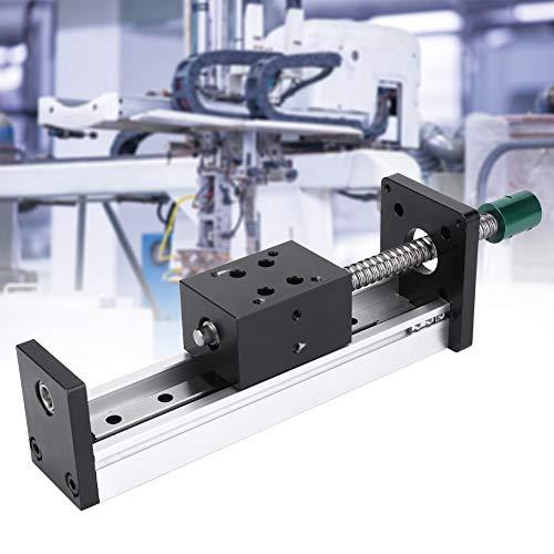 Actuador lineal de husillo de bolas, recorrido efectivo de 300 mm Carril de guía lineal de aleación de aluminio, tornillo de bola deslizante Carril guía lineal mesa movimiento(1204 husillo de bolas)