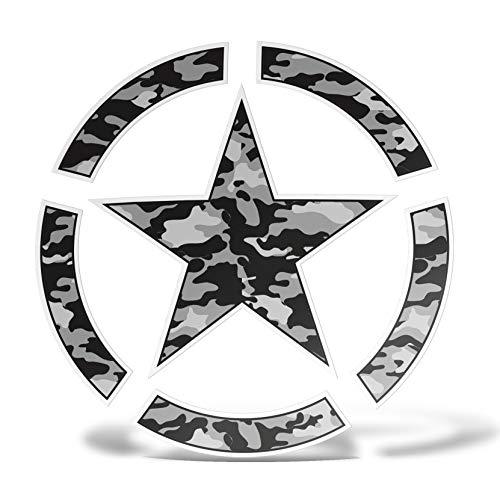 erreinge Sticker Stella Militare Camouflage Army Adesivo Stampato su PVC per Decalcomania Parete Murale Auto Moto Casco Camper Laptop - cm 10